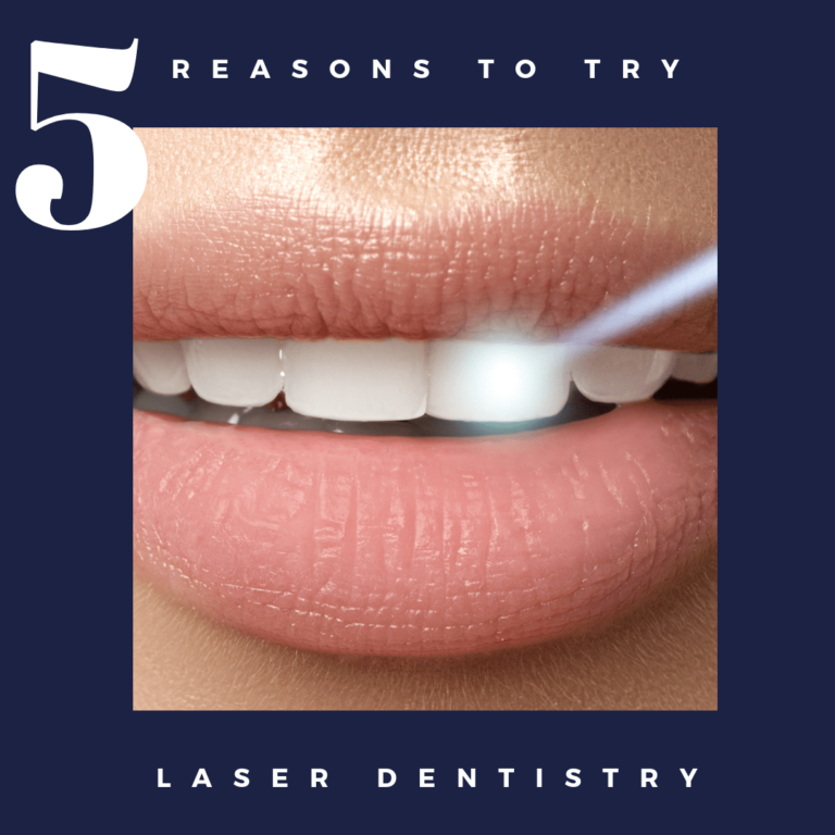 """Title banner for """"5 reasons to try laser dentistry"""""""