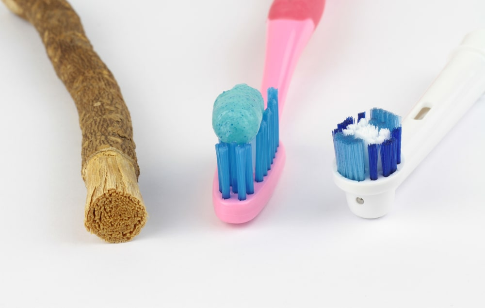 past and present toothbrushes